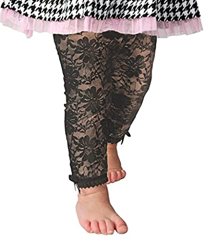 Baby Emporio-Baby & Toddler Girl Lace Leggings-Satin Bows-Gift