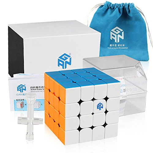 Coogam Gans 460 M Speed Cube 4x4 Gan460 Magnetic Puzzle Cube with IPG System (Stickerless) (Best 4x4 Speed Cube)