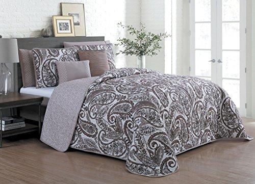 Avondale Manor Seville 7-Piece Comforter Set, King, Taupe - Seville Comforter Set