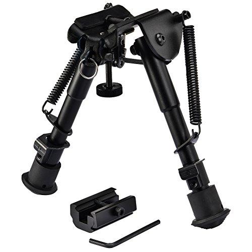 SONICKING 6-9 Adjustable Riflebipod Spring Return Hunting Rifle Bipod (black03) (Best Lightweight Rifle Bipod)