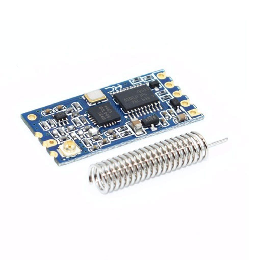 Lorsoul 433Mhz HC-12 SI4463 Wireless Porta seriale microcontrollore Modulo 1000m Antenna Sostituire Bluetooth