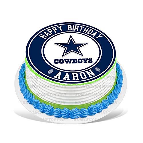 Dallas Cowboys Edible Cake Topper Personalized Birthday 10