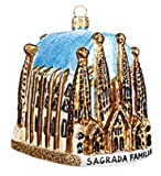 Sagrada Familia Cathedral Barcelona Spain Basilica Polish Glass Christmas Ornament Travel Souvenir