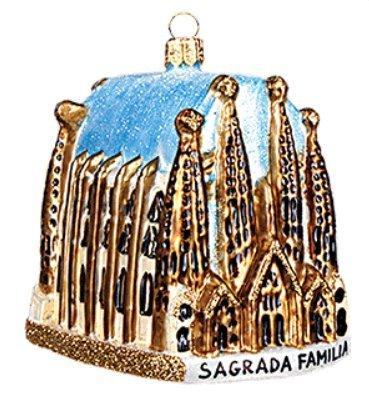 Sagrada Familia Cathedral Barcelona Spain Basilica Polish Glass Christmas Ornament Travel Souvenir by VT-Ornaments