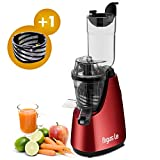 Argus Le Vertical Masticating Cold Press Juicer High Juice Yield Anti-Oxidation Nutrient Whole Slow Juicer(Energy Saving 150W DC Motor, 32 RPMs)