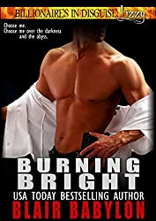 Burning Bright, a Romance (Billionaires in Disguise: Lizzy #4) (English Edition)