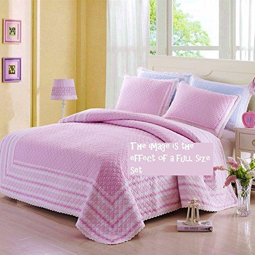 Amazoncom Brandream Pink Polka Dot Bed Quilt Set Kids Comforter