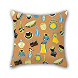 PILLO throw pillow covers 16 x 16 inches / 40 by 40 cm(double sides) nice choice for adults,birthday,monther,wedding,festival,lover Colorful geometry
