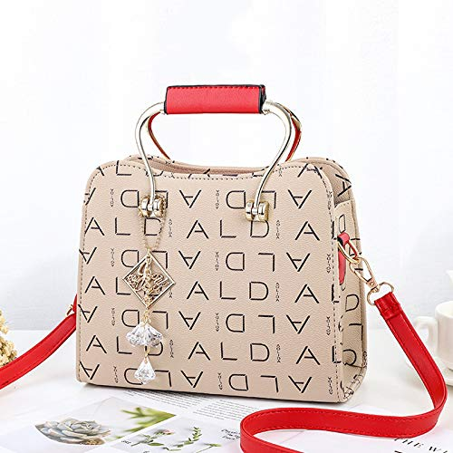 versatile donna Xmy Red Coffee Handbag Borse a Ash tracolla Fashion Plus fqBEt