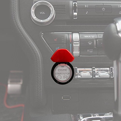 Engine Start/Stop Button Center Console Dashboard Button Switch Button Cover Trim for Ford Mustang 2015 2016 2017 ()
