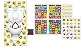 2 Awesome EMOJI Party Games - Emoji Bingo Game + Emoji Doorway Beanbag Toss Game- Kids Children's Activity - Classroom - School Daycare