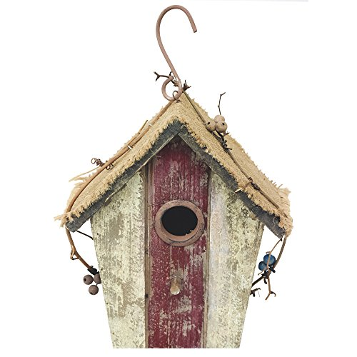 Pastoral Natural &crude wood Color Simple Wooden Bird House, provide a lovely house for your fine feathered friends