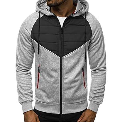 VANVENE Men's Casual Hoodie Sweatshirts Full Zip up Jumper Jacket Cardigan Hooded M-3XL 1