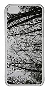 iPhone 5C Case, Personalized Custom Trees 4 for iPhone 5C PC Clear Case