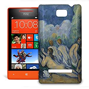 Phone Case For HTC 8S - Cezanne Bathers Art Painting Glossy Premium