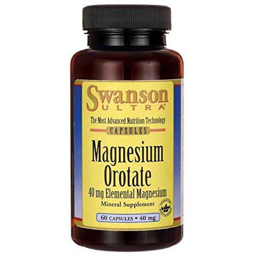 [Swanson Magnesium Orotate 40 mg 60 Caps] (Magnesium Orotate)