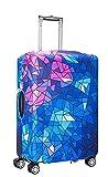 Myosotis510 Cute 3D Luggage Protector Suitcase Cover 18-32 Inch (S(18'-22' luggage), Galaxy)