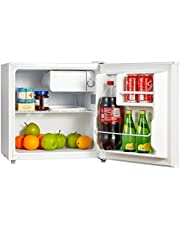 Midea WHS-65LW1 Compact Reversible Single Door Refrigerator and Freezer, 1.6 Cubic Feet, White
