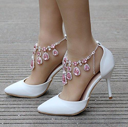 partito di scarpe Scarpe alto Tacco vestono scarpe nozze Qingchunhuangtang Scarpe di Pink 0nFqa