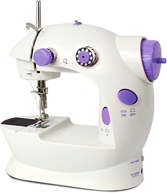 ISTOYO 0307 2-Speed Double Thread Mini Sewing Machine Portable Sewing Machine for Beginners /& Professionals with Foot Pedal Switch for Multi-Purpose Crafting Mending