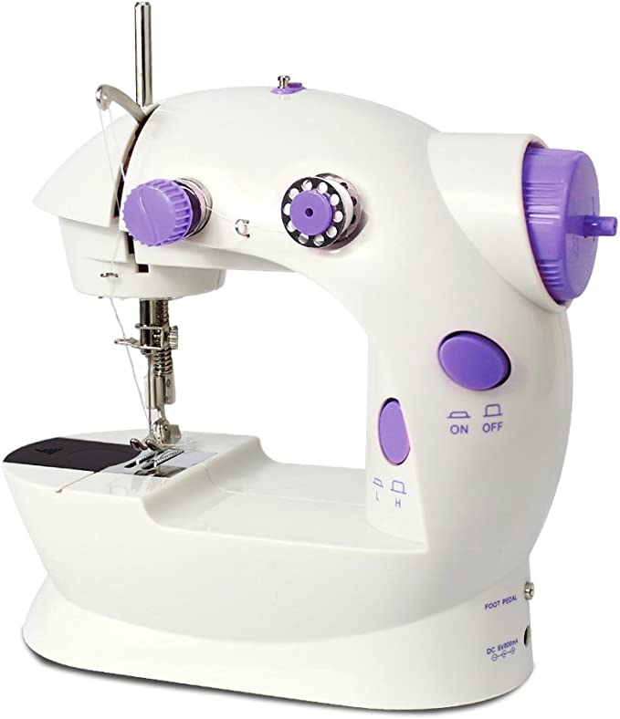 Electric Sewing Machine,Mini Portable Handheld Household Multifunction 12 Stitches Double Thread and Speed Free-Arm Crafting Mending Machine LED Light Sewing Classes Beginner Sewing Machine kit