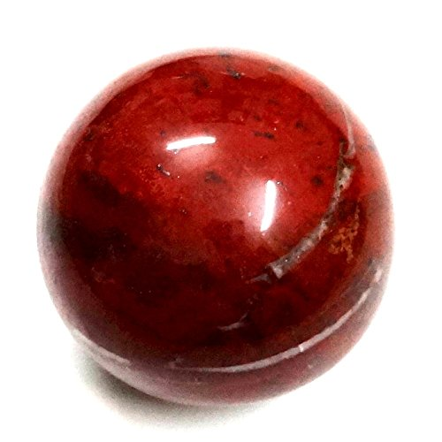 Exclusive'' Natural Sun stone Gemstone Polished Crystal Sphere Ball Aura Balancing Metaphysical (60-75 MM, Red Jasper)