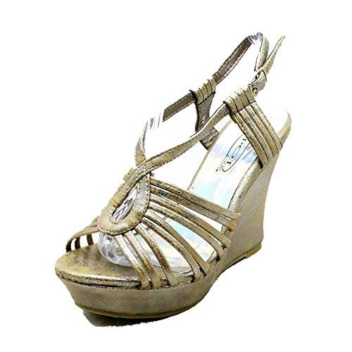 SendIt4Me Sandalias de Tacón Alto de Tacón Alto de Plataforma Para Mujer Bronze