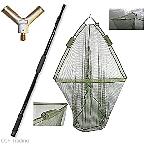 42″ Carp Fishing Landing Dual Net Float System With 2m Telescopic Handle NGT