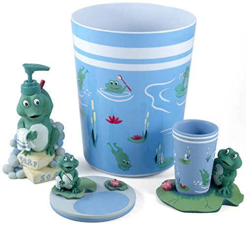 Bigkitchen froggy 4 piece bathroom accessory set
