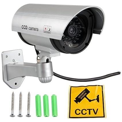 SODIAL(R) Falso Mock maniqui LED CCTV del hogar SPY vigilancia de camaras de