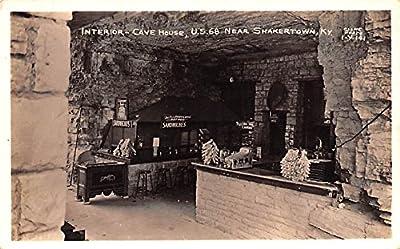 Interior Cave house US 68 Real Photo Shakertown, Kentucky USA KY Shaker Postcard