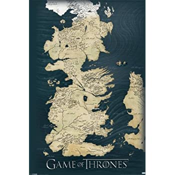 Amazon game of thrones map wall poster prints posters prints game of thrones map wall poster gumiabroncs Gallery