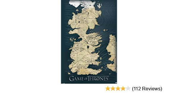Amazoncom Pyramid Game Of Thrones Map Wall Poster Prints Posters