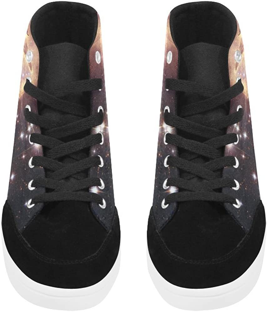 D-Story Custom Lobster Nebula High Top Shoes for Men Canvas Shoes Fashion Sneaker