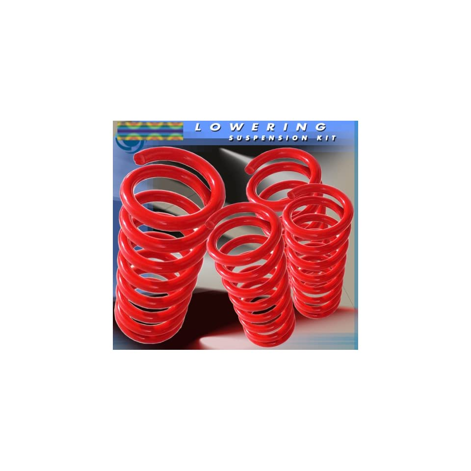 1994 95 96 97 98 99 00 01 02 03 04 Ford Mustang Coil Lowering Springs Kit Red
