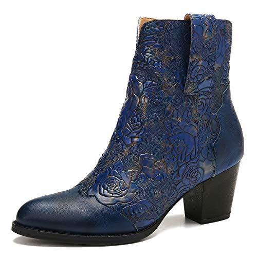 Gracosy-Bottines-Cuir-Femmes-Talons-Chaussures-de-Ville-Hiver--Talons-Confortable-Bottes-Santiags-Habill-Zip-Boots-Originales-Bohme-Colores-2019