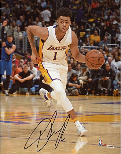 "D'Angelo Russell Los Angeles Lakers Autographed 8"" x 10"" Dribbling Photograph - Fanatics Authentic Certified by..."