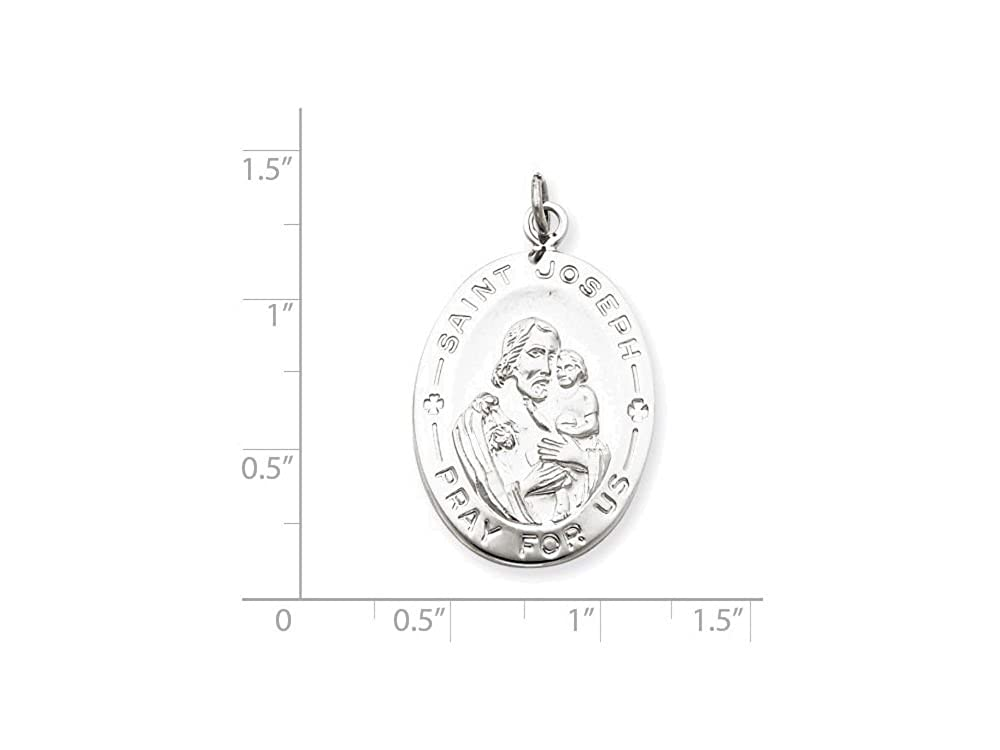 Finejewelers Sterling Silver St Joseph Medal Pendant Necklace Chain Included