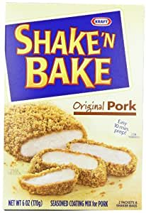 Shake 'N Bake Seasoned Coating Mix, Original Pork, 6-Ounce Boxes (Pack of 12)