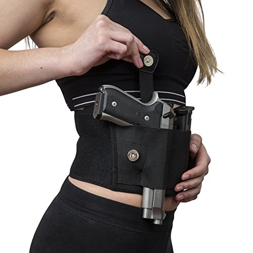IDELIFE Belly Band Holster for Concealed Carry Adjustable 45