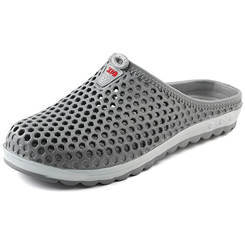 Eastlion Summer Male And Female EVA Couple Beach Shoes Leisure Non-slip Half Slippers Male Grey 3ye7ZDIPzY