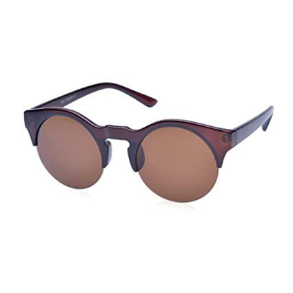740971e136771 Amazon.com  Adealink Retro Women Half Round Frame Bamboo Sunglasses Wood  Sun Glasses Polarized Eyeglasses With Case  Sports   Outdoors