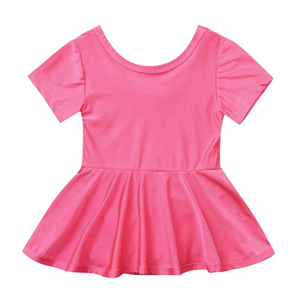 DFVVR Baby Princess Dress Toddler Baby Kids Girls Dresses Stars Tulle Patchwork Hairband Outfits