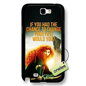 Disney Brave Princess Merida Hard Plastic Phone Case & Cover for Samsung Galaxy Note 2 - Black