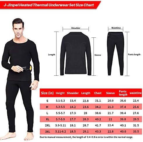 J-Jinpei Sweat-Shirt Chauffant pour Hommes et Femmes Polo /à Manches Longues Pull L/éger et Respirant Contr/ôle Intelligent de la Temp/érature Rechargeable 3000mAh Batterie au Lithium Taille 2XL