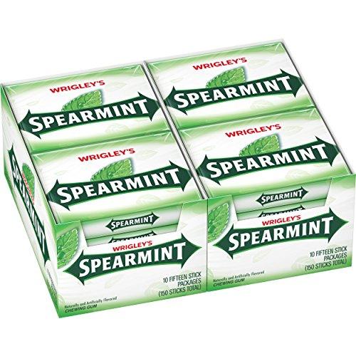 Wrigley's Spearmint Gum, 15-Stick Slim Packs (Pack of 20) ()