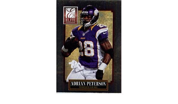 2013 Panini Elite Football Card # 57 Adrian Peterson Minnesota ...