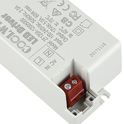 COOLWEST Transformer Driver Power Supply 60W 12V for LED Strip Lights and G4, MR11, MR16 Light Bulbs by COOLWEST (Image #5)