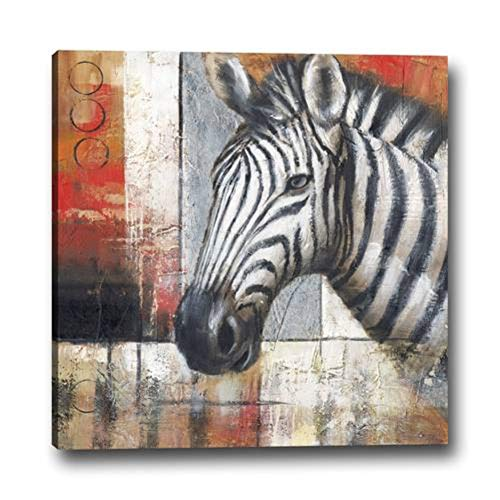 - WOWDECOR Wall Art Modern Canvas Prints Painting - Abstract Zebra Giclee Pictures Printed on Canvas, Wall Decor for Home Living Room Bedroom - DIY Frame (Small)