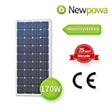 Newpowa 170W 170 Watt 12V Moncrystalline Solar Panel High Efficiency Mono Module > 160w